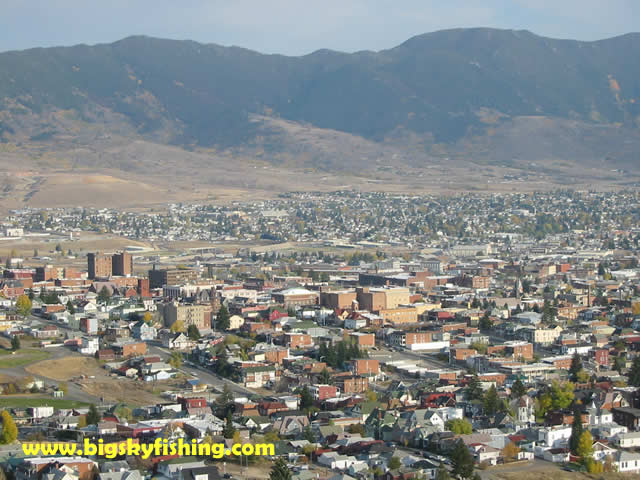 Butte Montana Pictures Downtown Butte Seen From Above