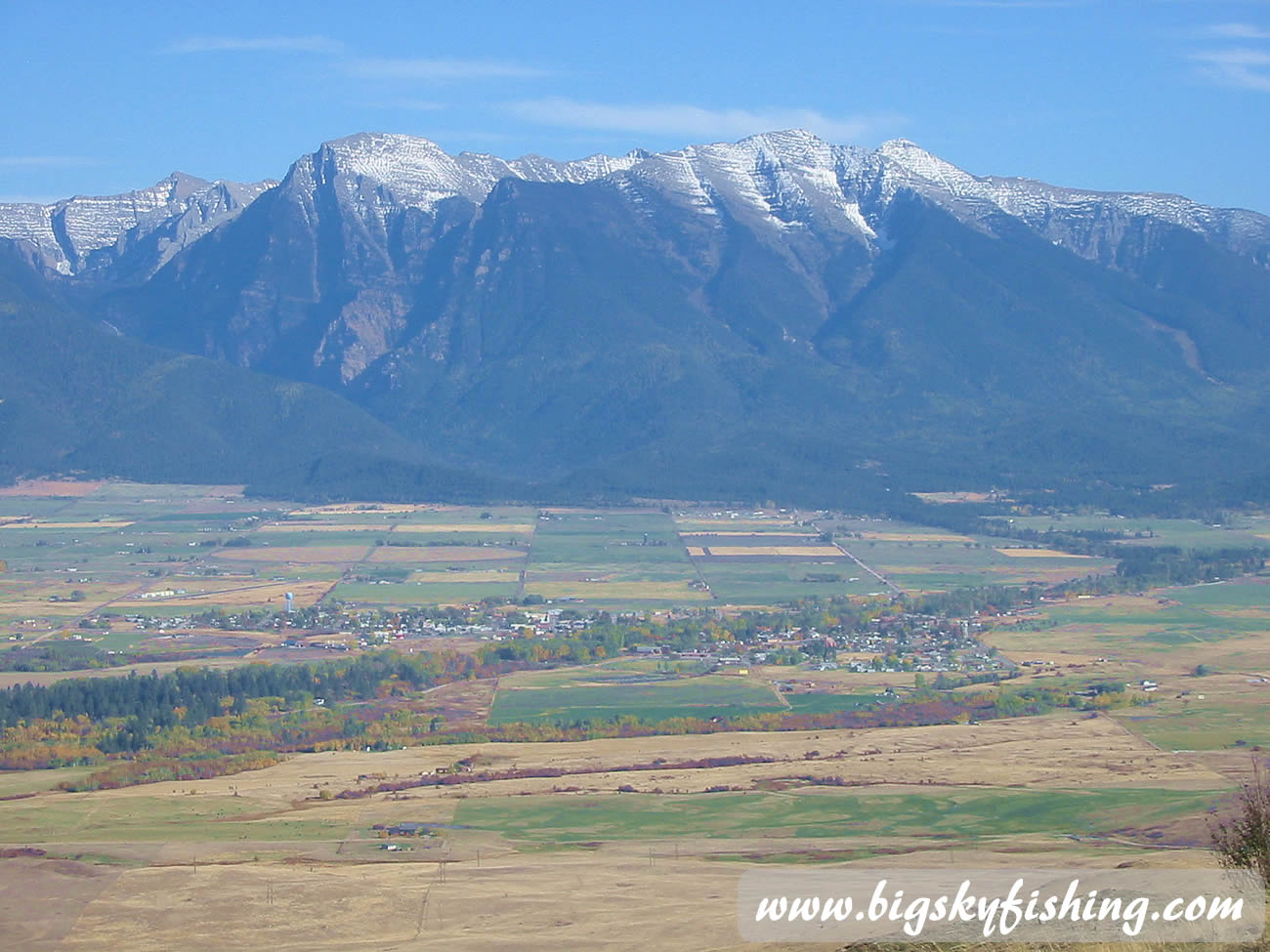 Higher Peaks Of The Mission Mountains In Montana