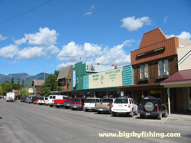 Whitefish pictures photograph of downtown whitefish montana for Whitefish montana fishing