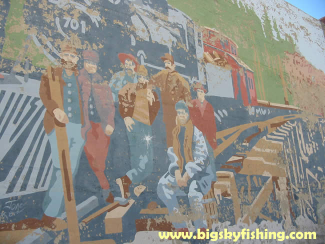 pictures of harlowtown montana old mural in the