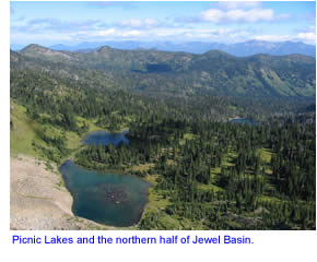, Hiking & Camping Information for the Jewel Basin in Montana on