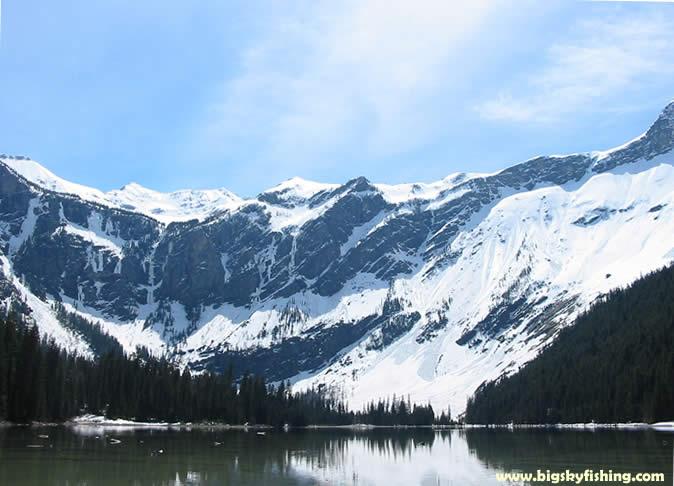 Glacier national park photographs avalanche lake for Fishing in glacier national park