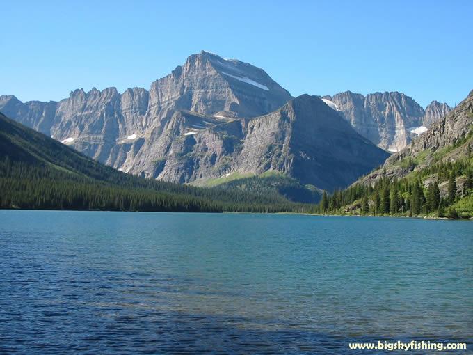 Glacier national park photographs lake josephine for Fishing in glacier national park
