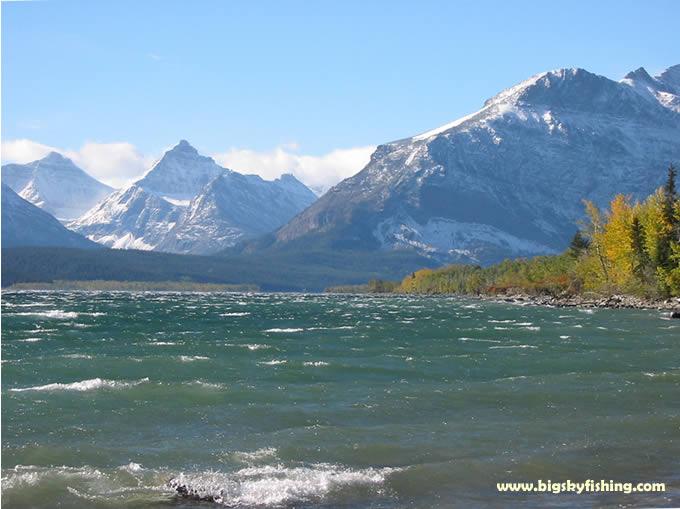 Glacier national park photographs st mary lake near the for Fishing in glacier national park