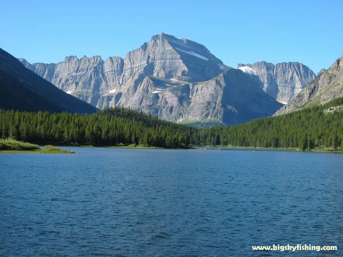 Glacier national park photographs swiftcurrent lake for Fishing in glacier national park
