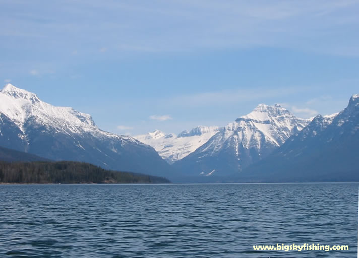 Glacier national park photographs lake mcdonald in may for Fishing in glacier national park