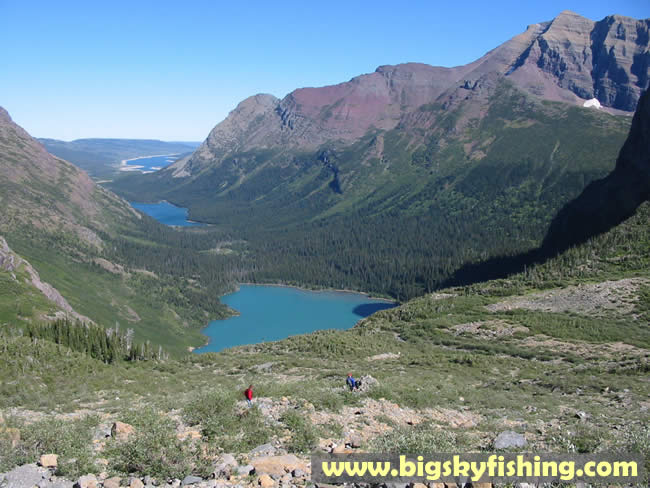 Photographs of the grinnell glacier trail in glacier for Fishing in glacier national park