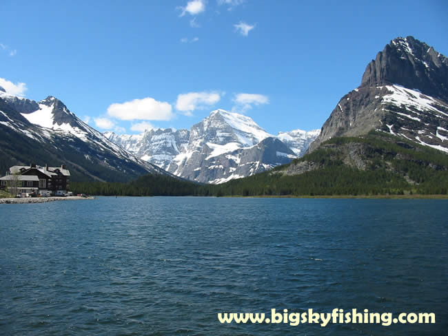 Glacier national park pictures many glacier hotel and for Fishing in glacier national park