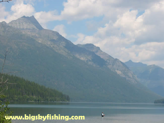 Glacier national park pictures fly fishing on bowman lake for Fly fishing glacier national park