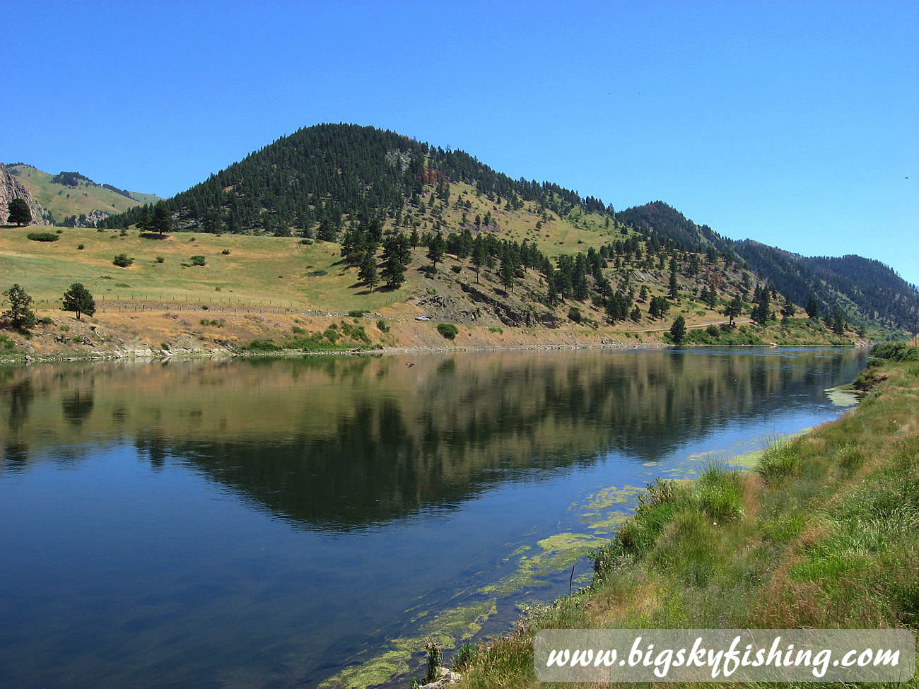 Missouri River In Central Montana