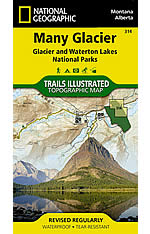 Many Glacier Trail Map by Trails Illustrated