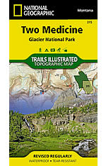 Two Medicine Trail Map by Trails Illustrated