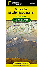 Missoula & Mission Mountains Trails Illustrated Map