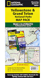 Yellowstone & Teton Parks Trails Illustrated Map Bundle