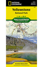Yellowstone National Park Trails Illustrated Map