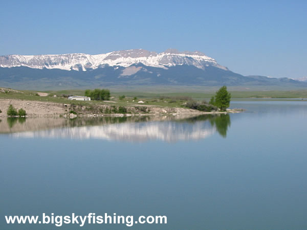 Photo of willow creek reservoir in central montana the for Willow creek fishing