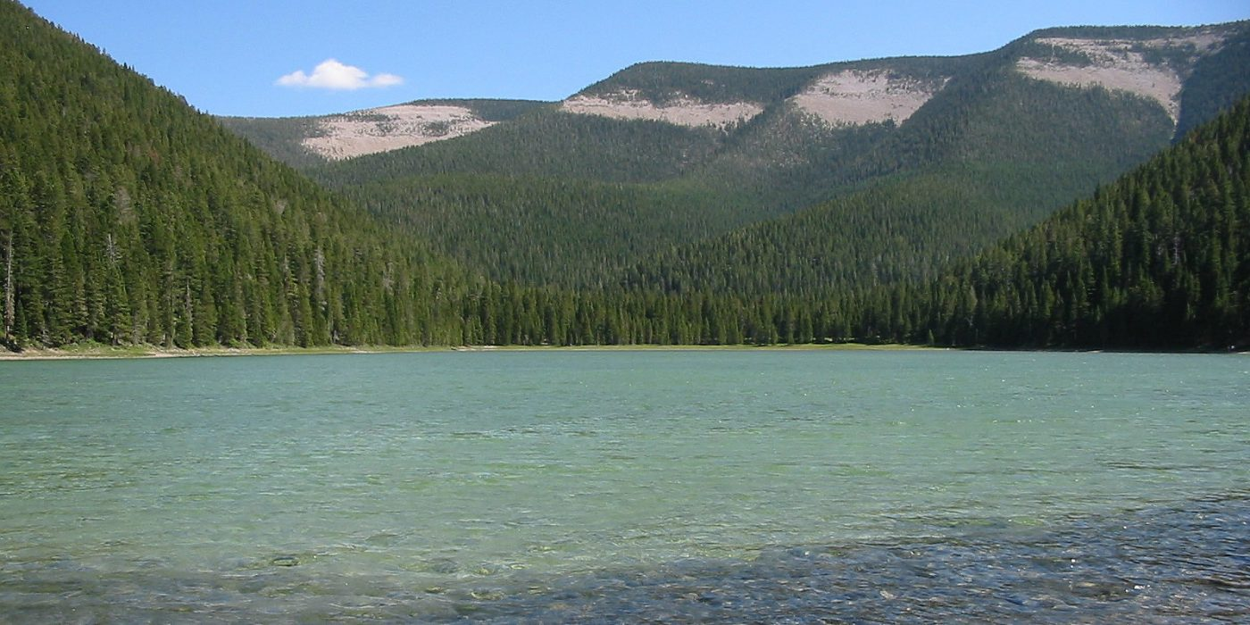 Crystal Lake in Central Montana