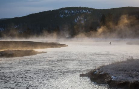 Fly Fishing the Madison River in Yellowstone National Park. NPS Photo.