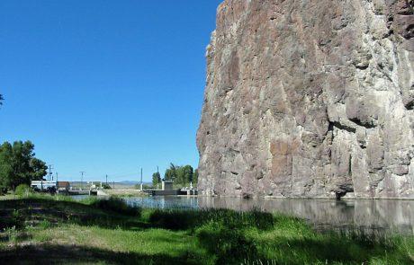 Barrett's Rock and Dam along the Beaverhead River