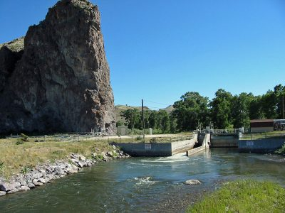 Barrett's Dam on the Beaverhead River