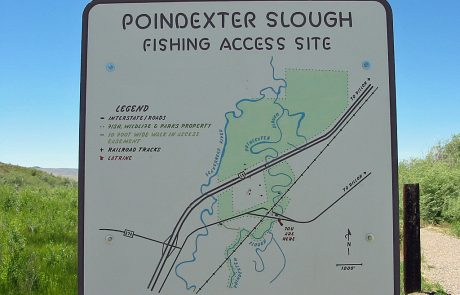 Poindexter Slough Map Sign