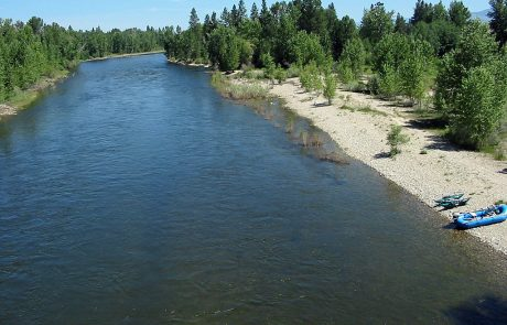 Bitterroot River at Demmons Fishing Access Site near Hamilton, Montana
