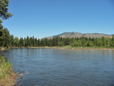 The Bitterroot River near Florence, Montana