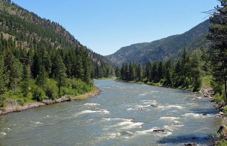 The Blackfoot River in Montana, near Mineral Hill Fishing Access Site
