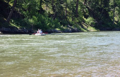Floaters on the Blackfoot River in Montana