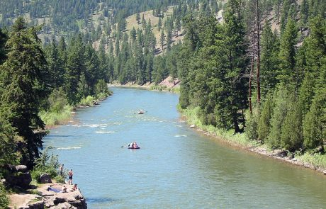 Floating down the Blackfoot River in Montana