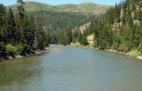 The Blackfoot River in Montana, seen from Whitaker Bridge