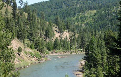 The Blackfoot River in Montana, near Whitaker Bridge