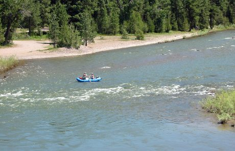 Floating on the Blackfoot River in Montana
