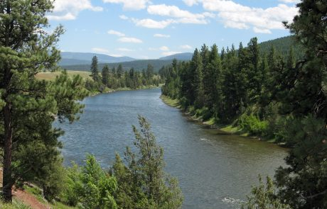Blackfoot River near Corrick River Bend Fishing Access Site