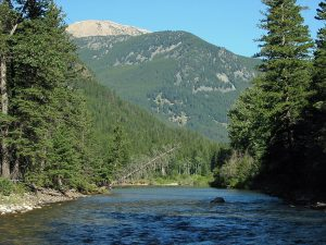 Scenic Setting along the Boulder River in Montana
