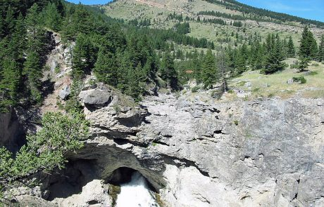 Boulder River Emerges from Natural Falls