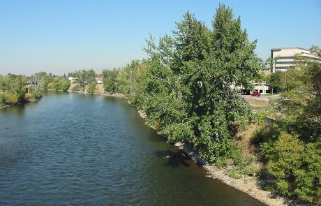 Clark Fork as it Passes Through Missoula, Montana
