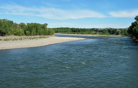Yellowstone River near Columbus