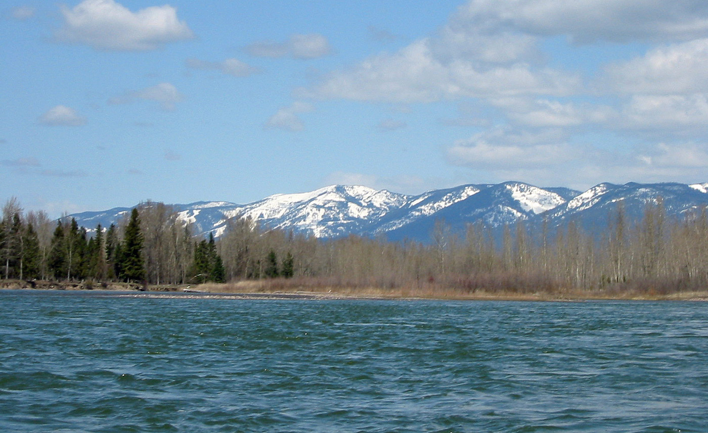 The Flathead River in Northwest Montana