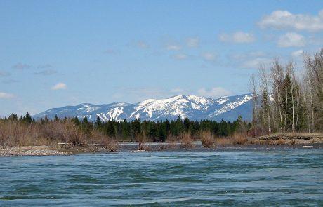 The Flathead River in Northwest Montana