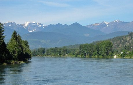 Kootenai River and the Cabinet Mountains in Northwest Montana