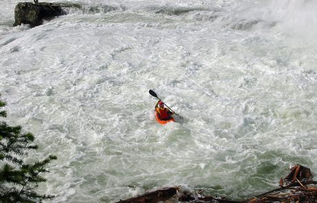 Kayaker Just Below Kootenai Falls on the Kootenai River
