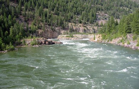 Downstream from Kootenai Falls on the Kootenai River