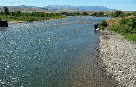 Yellowstone River downstream from Livingston, Montana