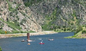 Floaters on the Madison River Downstream from Beartrap Canyon