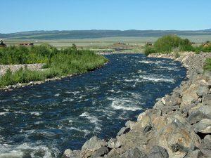 Madison River downstream from Quake Lake