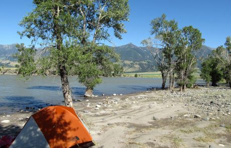 Camped at Mallard's Rest on the Yellowstone River