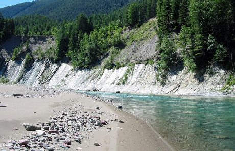 Beach on the Middle Fork Flathead River