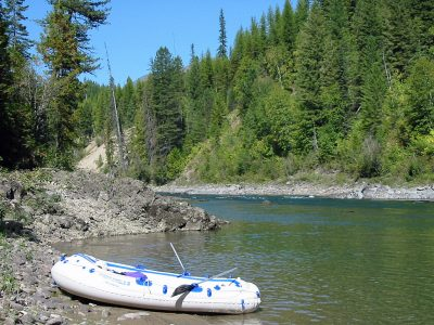 Taking a Break on the North Fork Flathead River