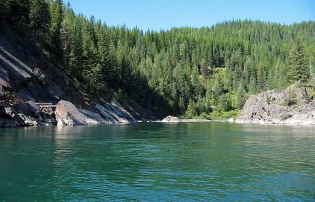 Deep Pools along the North Fork Flathead River in Montana